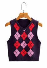 Pink Argyle Sweater Vest