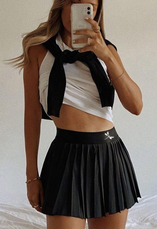 Dragonfly Pleated Tennis Skirt