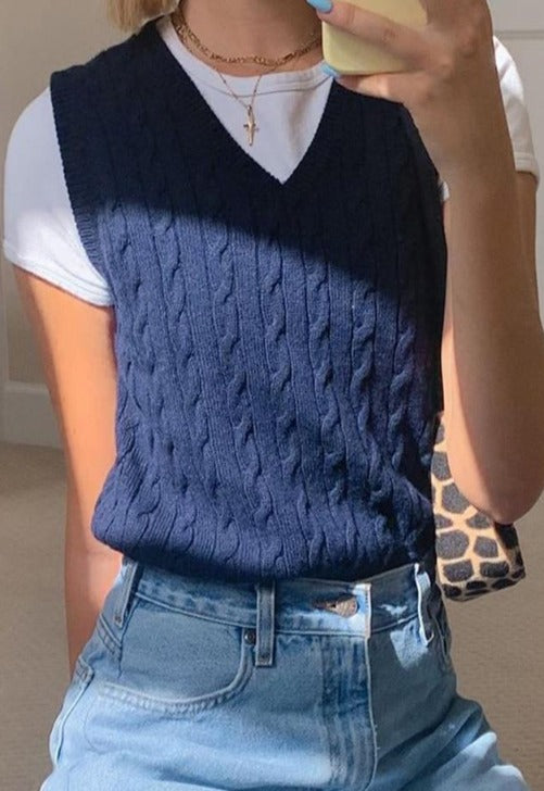 Load image into Gallery viewer, Knit Sweater Vest