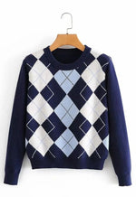 Maya Blue Argyle Sweater