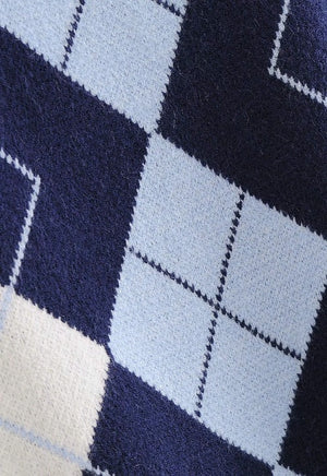 Load image into Gallery viewer, Maya Blue Argyle Sweater