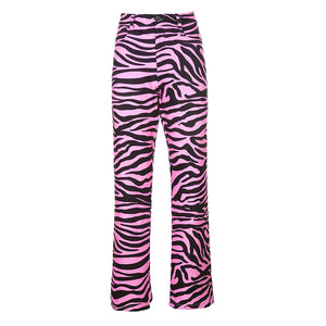 Load image into Gallery viewer, Y2K Pink Zebra Pants