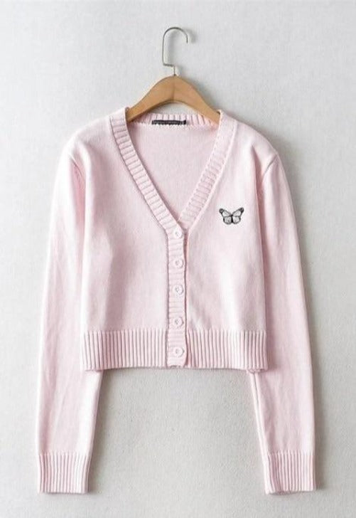 Butterfly V-Neck Cardigan