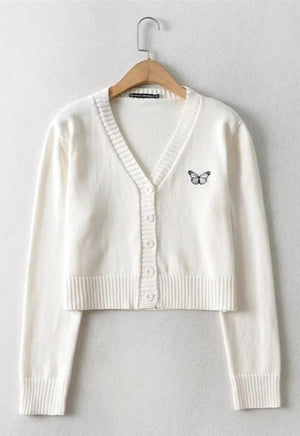 Load image into Gallery viewer, Butterfly V-Neck Cardigan