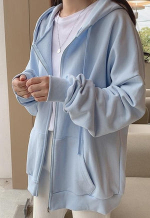 Baby Blue Clouded Zip Up