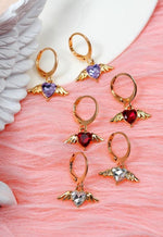 Angel Heart Gold Mini Hoops