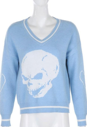 Load image into Gallery viewer, Willow Knitted Skull Sweater