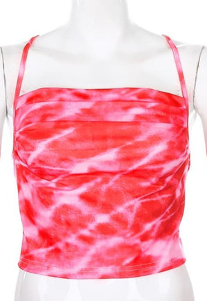 Load image into Gallery viewer, Tie Dye Cowl Top