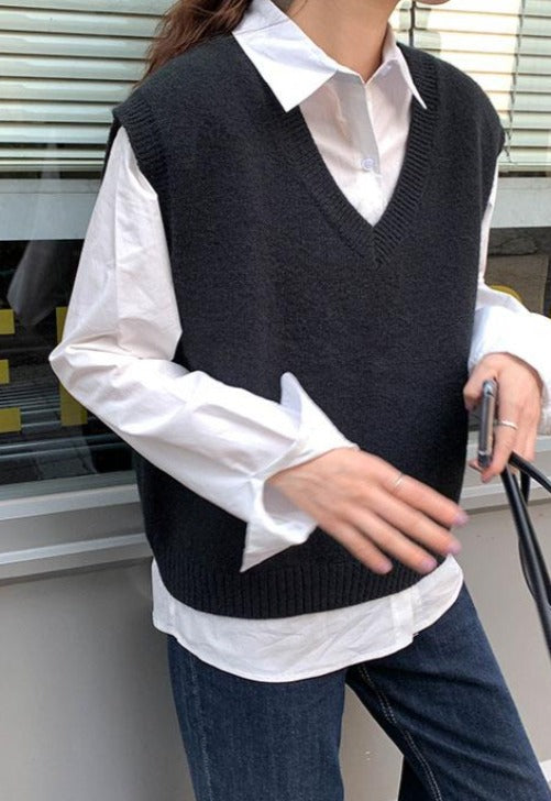 Load image into Gallery viewer, Hallie Knit Sweater Vest