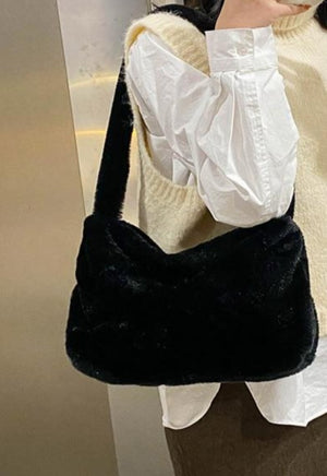 Load image into Gallery viewer, Fuzzy Mini Shoulder Bag