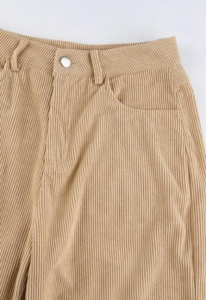 Load image into Gallery viewer, Khaki Corduroy 90's Pants