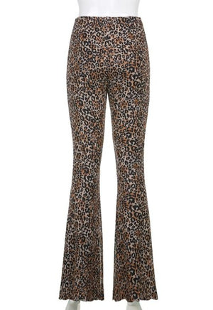 Load image into Gallery viewer, Brown Leopard Flare Joggers