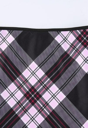 Jesse Pink Plaid Skirt