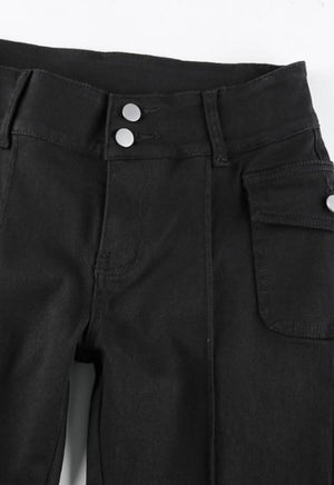 Holly Black Flared Trousers