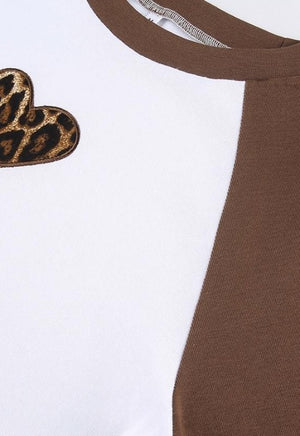 Erica Leopard Heart Raglan Thermal
