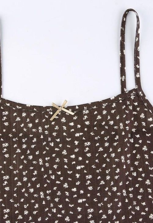 Brown Floral Cami Top