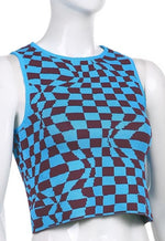 Allie Checkered Knitted Tank