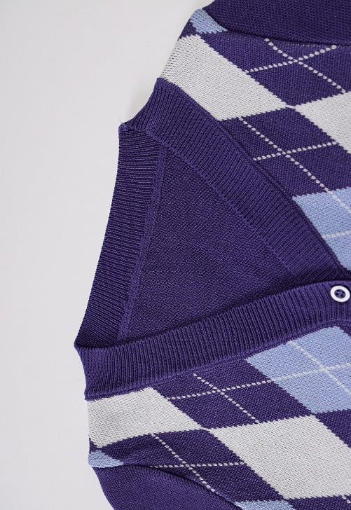 Load image into Gallery viewer, Jamie Cropped Argyle Cardigan