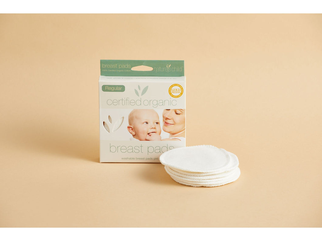 Nature's Child certified organic cotton breast pads for nursing