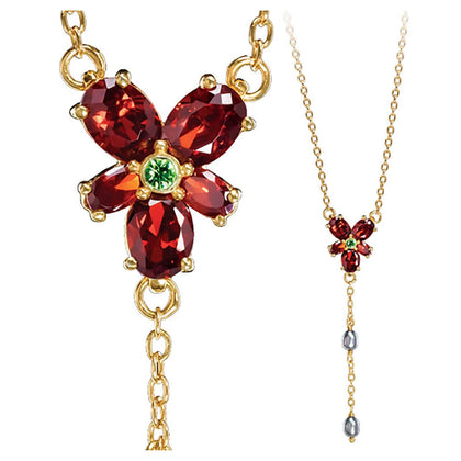 Hermoine's Red Crystal Necklace (Costume) - House Of Spells