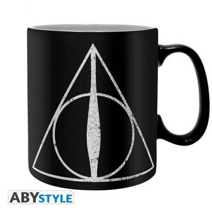 Official Harry Potter Deathly Hallows King size Mug at the best quality and price at House Of Spells- Harry Potter Themed Shop In London. Get Your Harry Potter Deathly Hallows King size Mug now with 15% discount using code FANDOM at Checkout. www.houseofspells.co.uk.