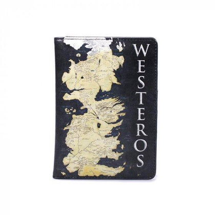 Official Game of Thrones Map of WESTEROS - PASSPORT WALLET at the best quality and price at House Of Spells- Fandom Collectable Shop. Get Your Game of Thrones Map of WESTEROS - PASSPORT WALLET now with 15% discount using code FANDOM at Checkout. www.houseofspells.co.uk.