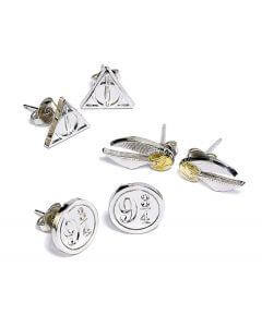 Harry Potter Stud Earring Set Snitch/ Deathly Hallows/ Platform 9 3/4 - House Of Spells