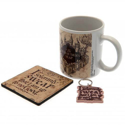 Official Harry Potter Marauders Map Mug, Coaster and Key chain Set at the best quality and price at House Of Spells- Fandom Collectable Shop. Get Your Harry Potter Marauders Map Mug, Coaster and Key chain Set now with 15% discount using code FANDOM at Checkout. www.houseofspells.co.uk.