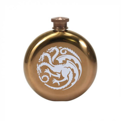 Game Of Thrones-Hip Flask Round Mother of Dragons
