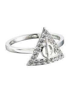 Harry Potter Embellished With Swarovski® Crystals Deathly Hallows Ring Large