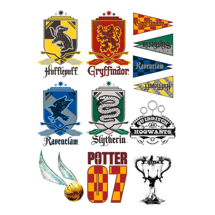 Official Harry Potter Temporary Tattoos (35 tattoos) at the best quality and price at House Of Spells- Fandom Collectable Shop. Get Your Harry Potter Temporary Tattoos (35 tattoos) now with 15% discount using code FANDOM at Checkout. www.houseofspells.co.uk.