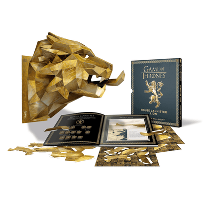 Official Game of Thrones Mask: House Lannister Lion (3D Mask & Wall Mount) at the best quality and price at House Of Spells- Fandom Collectable Shop. Get Your Game of Thrones Mask: House Lannister Lion (3D Mask & Wall Mount) now with 15% discount using code FANDOM at Checkout. www.houseofspells.co.uk.