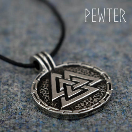 Official ROUND VALKNUT PENDANT at the best quality and price at House Of Spells- Harry Potter Themed Shop In London. Get Your ROUND VALKNUT PENDANT now with 15% discount using code FANDOM at Checkout. www.houseofspells.co.uk.