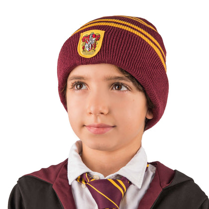 Kids Gryffindor Gloves And Beanie Set - House Of Spells