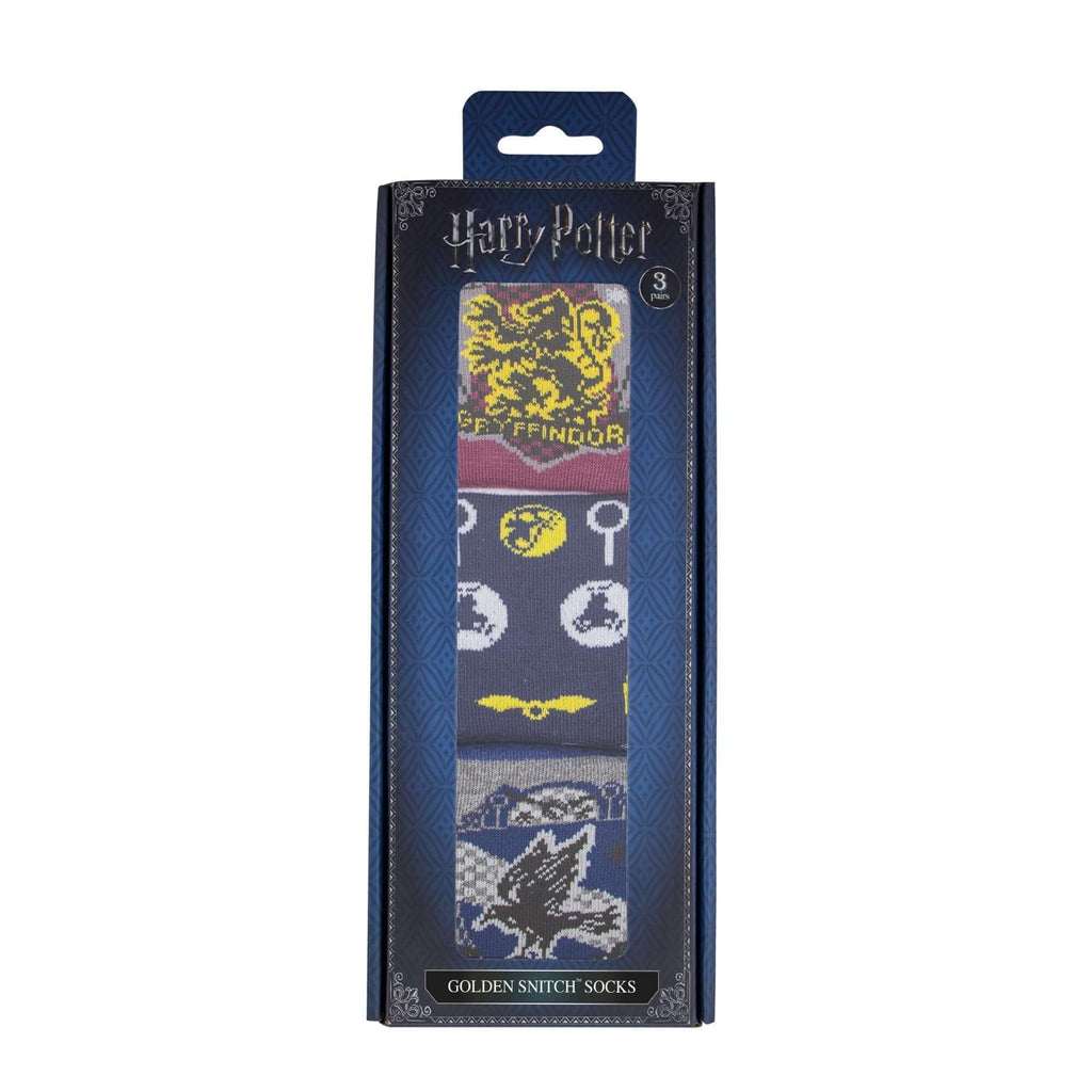 Golden Snitch Socks (Set Of 3) - Deluxe Edition - House Of Spells- Harry Potter Themed Shop In London