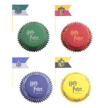 Harry Potter Cupcake Baking Cups & Flag Picks (Set Of 96) - House Of Spells