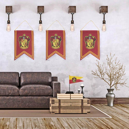 Official Gryffindor Banner & Flag Set at the best quality and price at House Of Spells- Harry Potter Themed Shop In London. Get Your Gryffindor Banner & Flag Set now with 15% discount using code FANDOM at Checkout. www.houseofspells.co.uk.