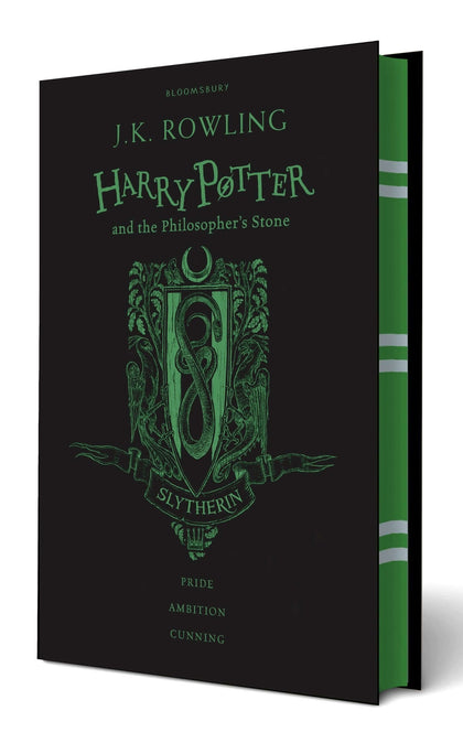 Official Harry Potter and The Philosophers Stone Slytherin Edition Hardback at the best quality and price at House Of Spells- Fandom Collectable Shop. Get Your Harry Potter and The Philosophers Stone Slytherin Edition Hardback now with 15% discount using code FANDOM at Checkout. www.houseofspells.co.uk.