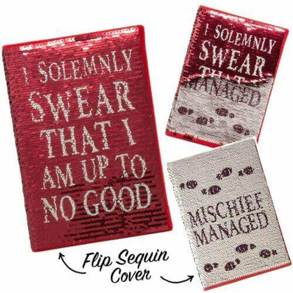 Official Harry Potter I Solemnly Swear Sequin Flip A5 Notebook at the best quality and price at House Of Spells- Fandom Collectable Shop. Get Your Harry Potter I Solemnly Swear Sequin Flip A5 Notebook now with 15% discount using code FANDOM at Checkout. www.houseofspells.co.uk.