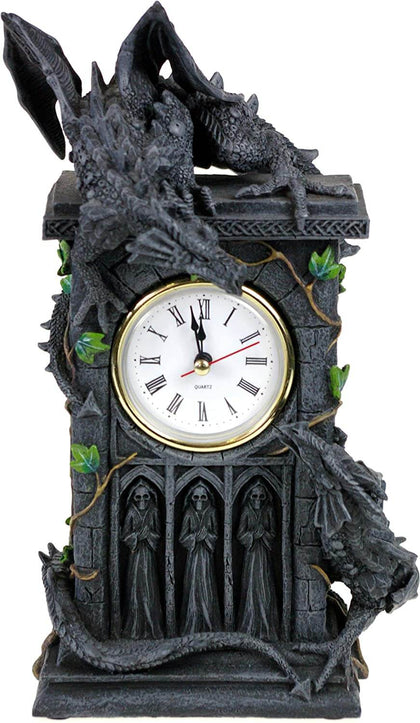 Official Duelling Dragons Clock 26cm at the best quality and price at House Of Spells- Harry Potter Themed Shop In London. Get Your Duelling Dragons Clock 26cm now with 15% discount using code FANDOM at Checkout. www.houseofspells.co.uk.