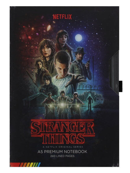 Official Stranger Things (VHS) Premium A5 Notebook at the best quality and price at House Of Spells- Fandom Collectable Shop. Get Your Stranger Things (VHS) Premium A5 Notebook now with 15% discount using code FANDOM at Checkout. www.houseofspells.co.uk.