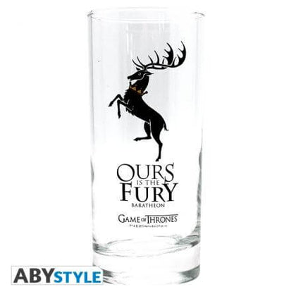 Official Game of Thrones House Baratheon Glass at the best quality and price at House Of Spells- Fandom Collectable Shop. Get Your Game of Thrones House Baratheon Glass now with 15% discount using code FANDOM at Checkout. www.houseofspells.co.uk.
