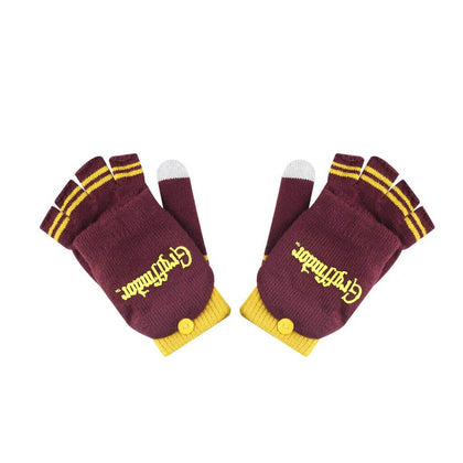 Official Gryffindor Mitten/Fingerless Gloves at the best quality and price at House Of Spells- Harry Potter Themed Shop In London. Get Your Gryffindor Mitten/Fingerless Gloves now with 15% discount using code FANDOM at Checkout. www.houseofspells.co.uk.