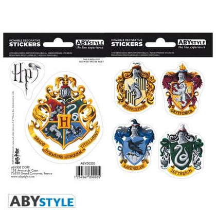 Official HARRY POTTER Mini stickers Hogwarts Houses (16x11cm) at the best quality and price at House Of Spells- Harry Potter Themed Shop In London. Get Your HARRY POTTER Mini stickers Hogwarts Houses (16x11cm) now with 15% discount using code FANDOM at Checkout. www.houseofspells.co.uk.