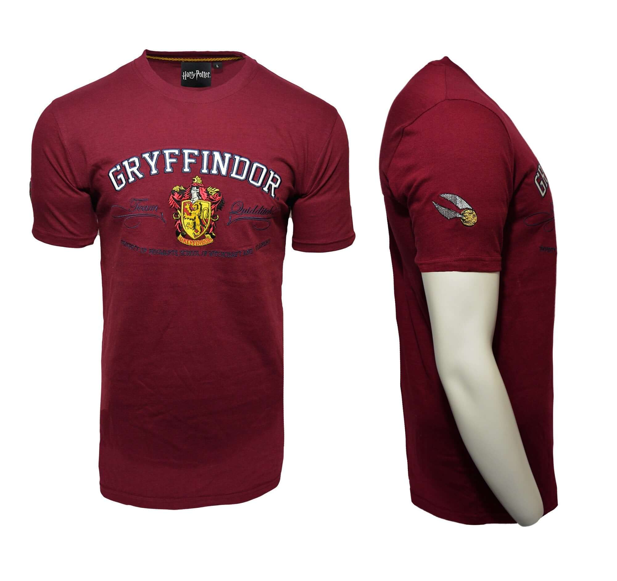 Harry Potter Embroidery T-Shirt - Gryfindor