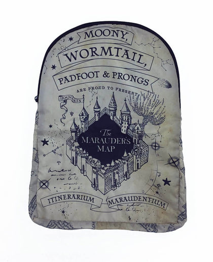 Official Harry Potter Marauders Map Foldable Backpack at the best quality and price at House Of Spells- Harry Potter Themed Shop In London. Get Your Harry Potter Marauders Map Foldable Backpack now with 15% discount using code FANDOM at Checkout. www.houseofspells.co.uk.