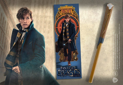 Newt Scamander Wand Pen & Bookmark - House Of Spells