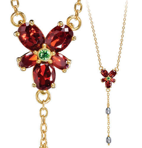 Hermoine Red Crystal Necklace