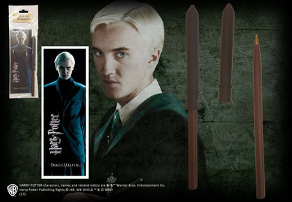 Official Draco Malfoy Wand Pen And Bookmark at the best quality and price at House Of Spells- Fandom Collectable Shop. Get Your Draco Malfoy Wand Pen And Bookmark now with a 15% discount using code FANDOM at Checkout. www.houseofspells.co.uk.