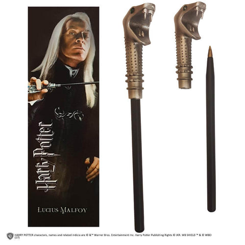 Lucius Malfoy Wand Pen And Bookmark - House Of Spells